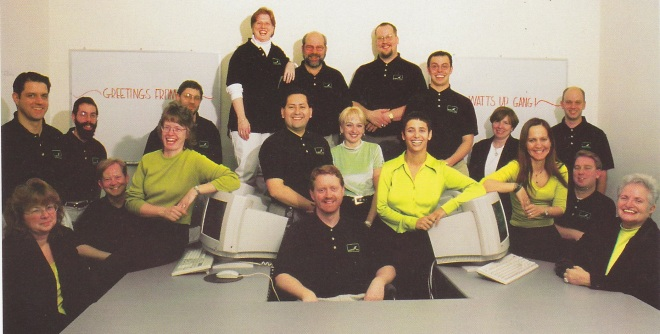 Watts Up Inc. - team / staff - group photo from 2001